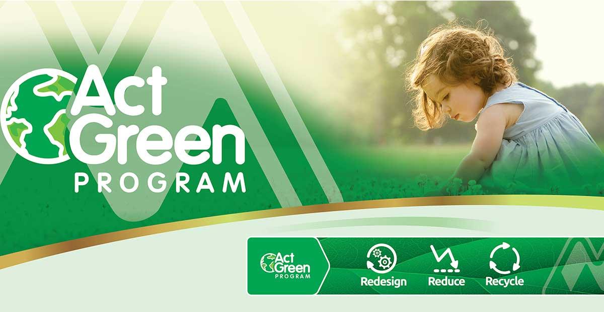 «Act Green», το πρόγραμμα βιωσιμότητας της Μέγα