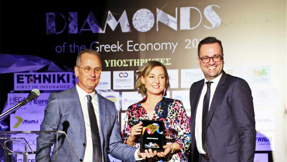 Στα «Διαμάντια της Ελληνικής Οικονομίας» διακρίθηκε η Cream Team