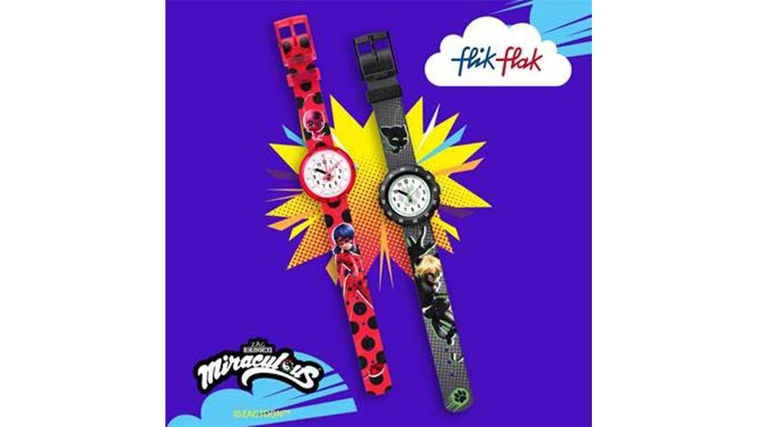 ΗLadybugκαι οCatNoirστα παιδικά ρολόγια τηςFlikFlak