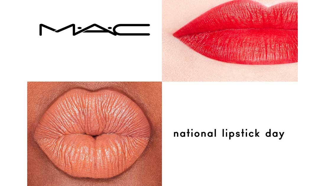 Τη National Lipstick Day γιορτάζει η ΜAC